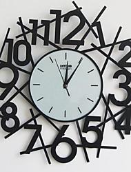 "18 ""h exploser nombre horloge murale en métal"