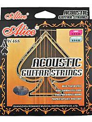 Alice - (aw468-l) de carbono de aço de alta cordas da guitarra acústica (012-053)