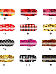 Rose 20 Tips Nail Art Stickers