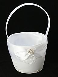 Свадебная корзина для девочек, с с кружевом