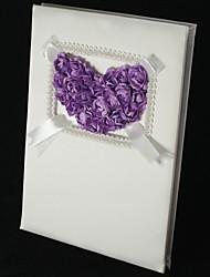 "Livro de ConvidadosCetim) -Tema Jardim Lilás 9 3/4""×7 3/4""×1""(25cm*20cm*2.6cm)O livro de convidados de casamento leva até 500 nomes de"