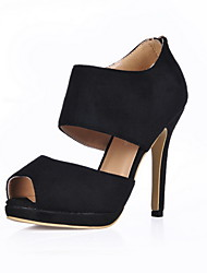 Suede Stiletto Heel Peep Toe Sandals Party / Evening Shoes (More Colors)