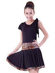 Dancewear Viscose Latin Dance Dress For Ladies More Colors