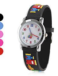 Children's Silicone Analog Quartz Wrist Watch (Multi-Colored) Cool Watches Unique Watches