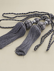 Dark Grey Tassel (One Pair)