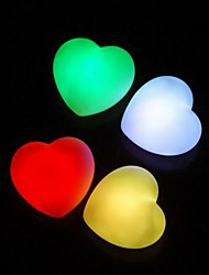 Wedding Décor LED Heart Favors (Set of 4 in Assorted Colors)