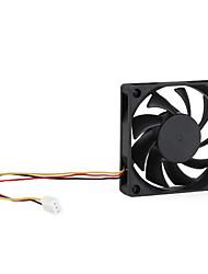 3-broches amd ventilateur de refroidissement 70mm deux roulements à billes