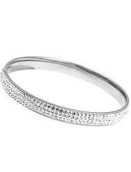 Eruner®Full Rhinetone Titanium teel Bracelet (ilver)  (buy 1 get 2 free gifts)