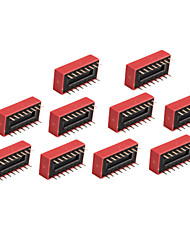 10 Stück 8-fach DIP-Schalter 2,54 mm 2 Zeile 16 pin DIP-Schalter diy