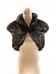 Party/Evening / Office & Career / Casual Feather/Fur Vests Short Sleeve Fur Wraps