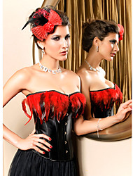 leatherette com strapless frente fechamento busk pena espartilho shapewear shaper lingerie sexy