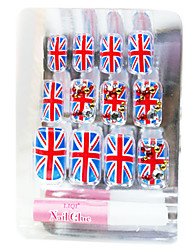 The Union Flag Style False Nail Tips