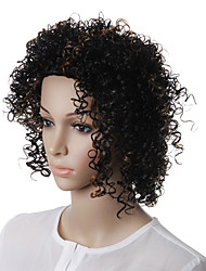 Capless Natural Look Medium Curly Synthetic Hair Wig