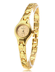 Damen Quartz Band Armband Gold