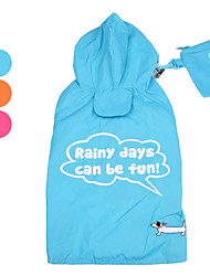 PethingTM Fluorescent Colors Raincoat for Dogs (XS-XL, Assorted Colors)