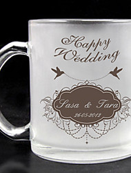 Personalized Frosted Glass - Happy Wedding
