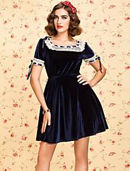 TS VINTAGE Lace Trimmed Velvet Dress