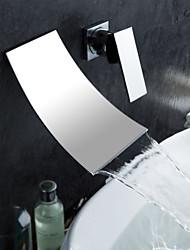 Montage mural Mitigeur deux trous in Chromé Robinet lavabo
