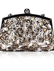 Elegant Satin with Acryl Diamonds Evening Handbag/Clutches