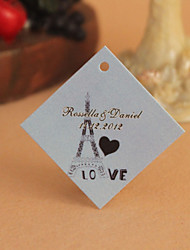 Personalized Rhombus Favor Tag - Eiffel Tower (Set of 30)