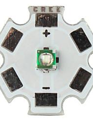 diy cree 3w 465nm 80lm luce led blu emettitore con base in alluminio (3.2-3.6v)