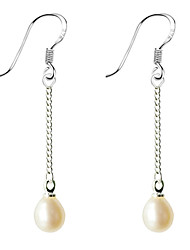 Single Chain Pearl Earring