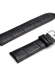 Unisex Genuine Leather Watch Strap 24MM(Black) Cool Watch Unique Watch Fashion Watch