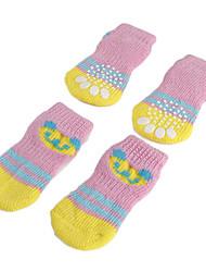 Pink Bear Anti-Skid Socks for Dogs (S-L)