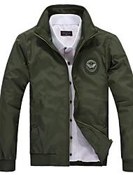 Stand Collar Men's Slim Short Jacket