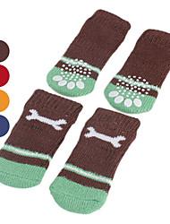 Cães Sapatos e Botas / Meias Vermelho / Azul / Marrom / Laranja Primavera/Outono AlgodãoCão Sapatos