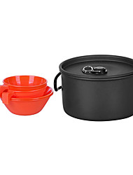 2-3 Cookset Camping Pessoas (1.2L Pot, 2PCS 200ML Bowl, 2PCS 175ml Cup)