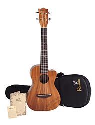 Rainie - (t-40c) ad alta grande solido acacia ukulele tenore koa con gig bag / sintonizzatore
