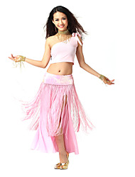Dancewear Cystal Cotton/Viscose Polyester Belly Dance Outfit For Ladies