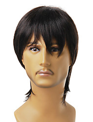 Capless Synthetic Nature Look Black Straight Hair Wig