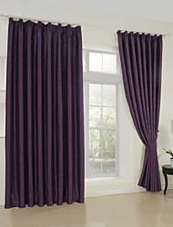(One Panel)Jacquard Traditional Floral Blackout Curtain