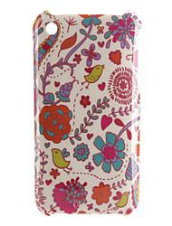 новая птица цветочным узором жесткий футляр для iphone 3G и 3GS (многоцветные)
