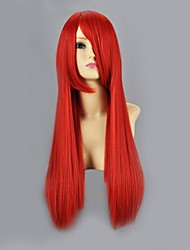 Cosplay Wigs Naruto Sarah Red Medium Anime Cosplay Wigs 60 CM Heat Resistant Fiber Female