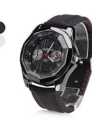 силиконовые женщины аналоговые кварцевые наручные часы (черный)