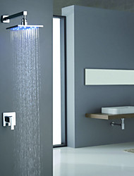 Sprinkle® Shower Faucets  ,  Contemporary  with  Chrome Single Handle Two Holes  ,  Feature  for LED / Wall Mount