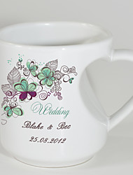 Personalized Mugs with Heart Shaped Handle - Spring Theme