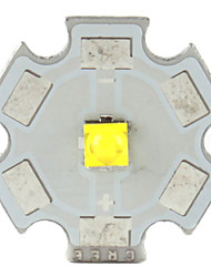 luce diy 5w 493lm 6000-7000K emettitore led bianchi con esagono base in alluminio (3.2-3.6v)