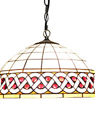 2 - Light Tiffany Pendent Lights with Wave Design