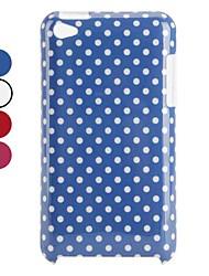 Жесткий чехол в горошек для iPod Touch 4 (разные цвета)