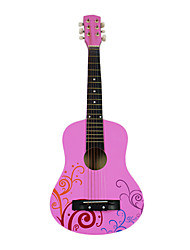 "Lily - (Pink) 30"" Acoustic Guitar with Capo/Strap/String/Picks"