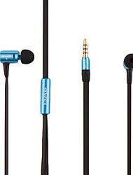 vendas quentes alta qualidade da moda macarrão de metal shell de linha de fones de ouvido