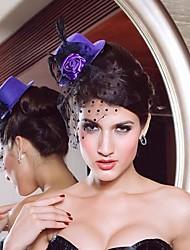 Beautiful Net With Flower Women's Fascinators