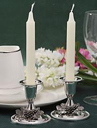 Wedding Décor Fabulous Silver Plated Candle Holder With Grape (Set of 2)