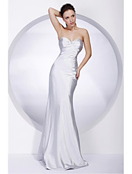 Mermaid / Trumpet Strapless Sweetheart Floor Length Stretch Satin Formal Evening Military Ball Dress with Beading Ruching by TS Couture®