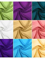 100% Polyester Chiffon (100D) Fabric By The Yard (Many Colors)