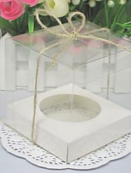 boîtes à gâteau transparentes avec base à l'intérieur (ensemble de 12)